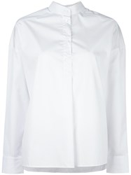 Each X Other Poncho Cut Shirt White