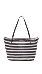 Kate Spade Maya Packable Nylon Tote Black Clotted Cream
