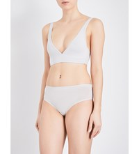 Bodas Basics Stretch Cotton Bralette Grey