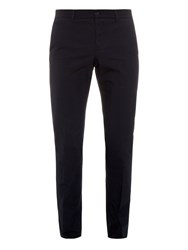 Bottega Veneta Slim Leg Cotton Blend Trousers