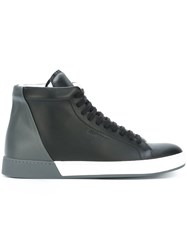 Jil Sander Lace Up Hi Top Sneakers Black