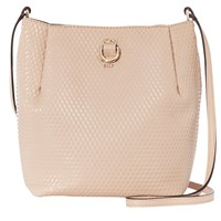Karen Millen Square Duffle Shoulder Bag Nude