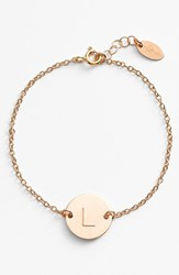 Women's Nashelle 14K Gold Fill Initial Disc Bracelet 14K Gold Fill L
