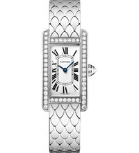 Cartier Tank Americaine 18Ct White Gold And Diamond Small Watch