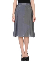 Rosamunda 3 4 Length Skirts Slate Blue