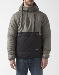 Ezekiel Khaki And Black Two Colour Trenton Windbreaker With Hood
