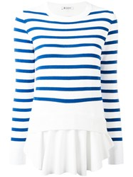 Dondup Striped Layer Jumper White
