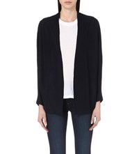 The Kooples Open Front Knitted Cardigan Navy