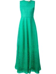 Nao21 Broderie Anglaise Sleeveless Gown Green