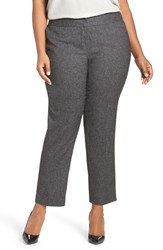 Vince Camuto Plus Size Women's Ankle Skinny Tweed Suit Pants