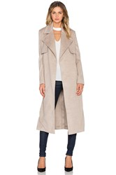 Bardot Felt Trench Coat Tan