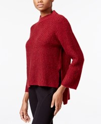 Rachel Roy High Low Sweater Ruby