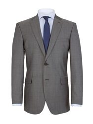 Aston And Gunn Plain Notch Collar Classic Fit Suit Jacket Grey