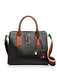 Marc Jacobs Big Shot Color Block Saffiano Leather Satchel Black Multi Gold