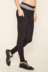 Forever 21 Active Colorblock Leggings Black Charcoal