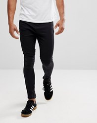 Religion Drop Crotch Jean With Biker Knee Detail And Zip Ankle Jet Black