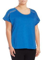 Karen Neuburger Short Sleeve Top Blue