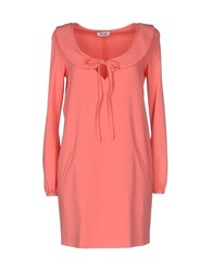 Moschino Cheap And Chic Short Dresses Coral