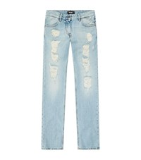 Just Cavalli Heavy Rip Jeans Male Light Blue