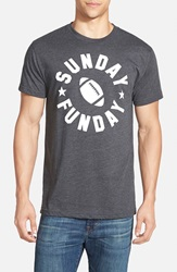Kid Dangerous 'Sunday Funday' Graphic T Shirt Charcoal White