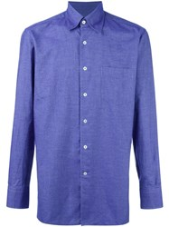 Canali Slim Fit Casual Shirt Blue
