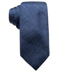 Ryan Seacrest Distinction Men's Orwell Unsolid Solid Slim Silk Tie Created For Macy's Navy