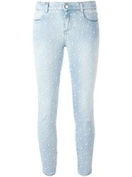 Stella Mccartney Embroidered Star Detail Jeans Blue