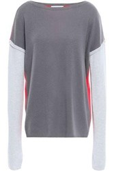 Duffy Woman Color Block Cashmere Sweater Anthracite