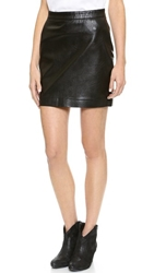 Blank Vegan Leather Miniskirt Bone Popper