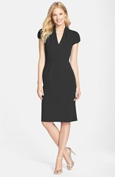 Women's Betsey Johnson Puffed Sleeve Scuba Sheath Dress Black
