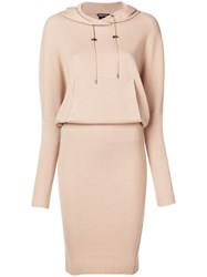 Tom Ford Hooded Knit Dress Nude And Neutrals