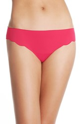 Halogen Women's 'No Show' Scalloped Thong Red Desire