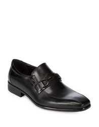 Kenneth Cole Textured Loafers Cognac
