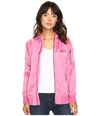 Members Only Washed Satin Ex Boyfriend Jacket Rose Women's Coat Pink