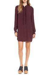 Leith Women's Ruffle Front Shirtdress