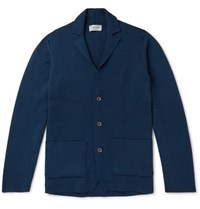 John Smedley Oxland Slim Fit Virgin Wool Cardigan Indigo