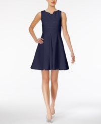 Maison Jules Embellished Jacquard Fit And Flare Dress Only At Macy's Blu Notte