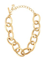 Oscar De La Renta Chain Necklace Gold