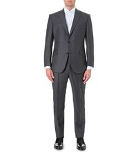 Richard James Regular Fit Wool Suit Charcoal
