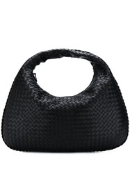 Bottega Veneta Intrecciato Hobo Bag Black