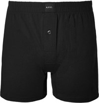 A.P.C. Cotton Boxer Shorts Black