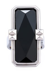 Altruis By Vinaya Designer Wearable Technology Silver Ring Silver Black White Stone