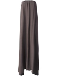 Dusan Strapless Gown Brown