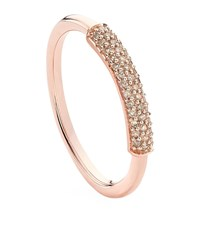 Monica Vinader Stellar Champagne Diamond Stacking Ring Female Pink