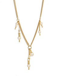 Chloe Kay Faux Pearl Chain Necklace