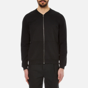 Folk Men's Jersey Bomber Jacket Black