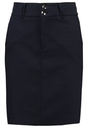 Mos Mosh Blake Night Pencil Skirt Navy Dark Blue