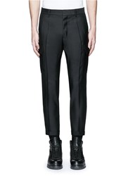 Dsquared 'Admiral' Wool Silk Evening Pants Black
