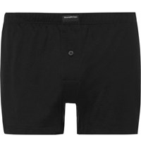 Ermenegildo Zegna Cotton Jersey Boxer Briefs Black