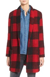 Bb Dakota Women's Holton Plaid Shawl Collar Coat